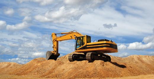 Baustellenfahrzeuge und Baumaschinen